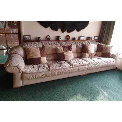 Sofa / Settee 5 Seater 3 + 2 Faux Leather Effect Suite Large...