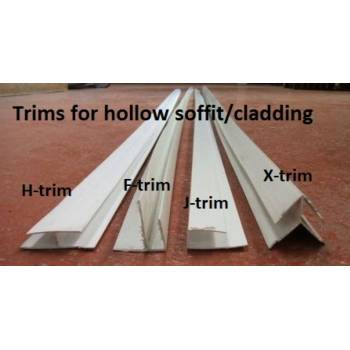 Trims for hollow soffit/cladding 1170mm x2