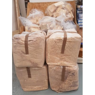 Wood Shavings Large Bale Bag Mixed with Saw Dust Sawdust Bed...