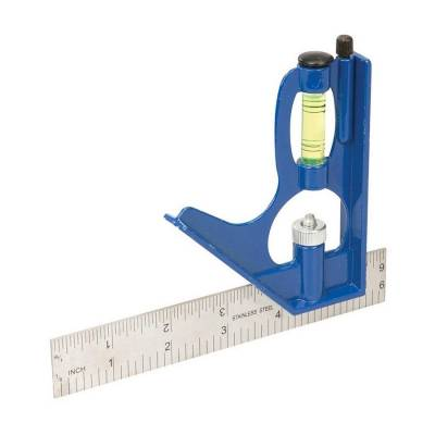 Combination Square 150mm  Scale Level Adjustable Edge...