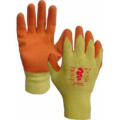Orange Latex Palm Gloves...