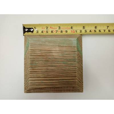"""Treated Cap For 4"""" Fence Post 120mm Flat Pattress Pyramid Decking Wooden Timber"""