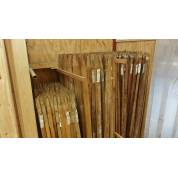 Garden Tree Stakes Hardwood Pegs Pack Wooden Timber Support Post 1.5m 25mm