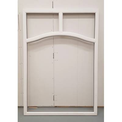 White PVC Window Non Opening Woodgrain UPVC 1490x1840mm BAR2...