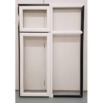 BAR21 1285x1840mm PVC Woodgrain Window