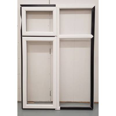 White PVC Window Woodgrain Casement UPVC 1285x1840mm BAR21 U...