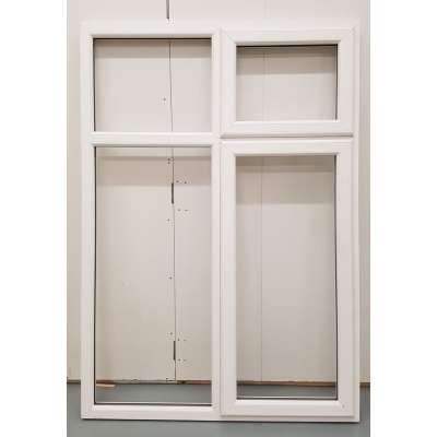 White PVC Window Woodgrain Casement UPVC 1285x1840mm BAR22 U...