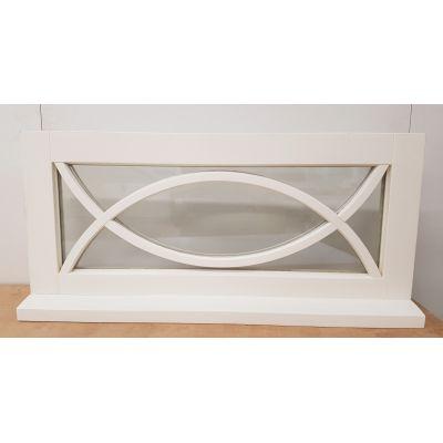 Wooden Timber Window Direct Glazed 1040x485mm POL02 Decorati...