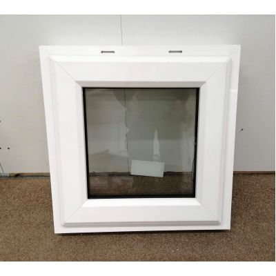 Plastic Window PVC uPVC Double Glazed Side Hung 500x500mm AN...