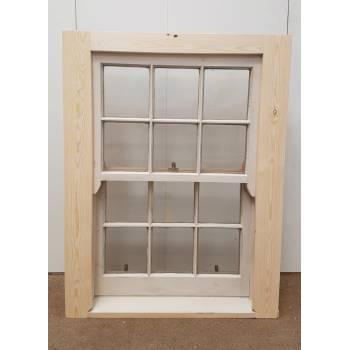 Georgian Sliding Sash Timber Window Single Glazed Wooden 915x1195mm SC15