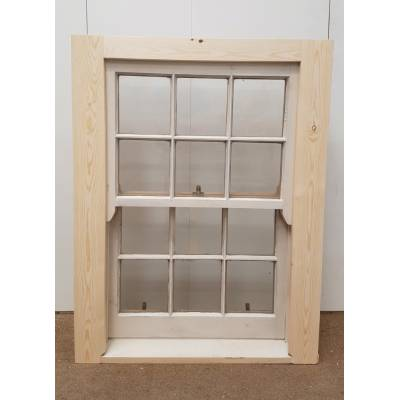 Georgian Sliding Sash Timber Window Single Glazed Wooden 915x1195mm SC15