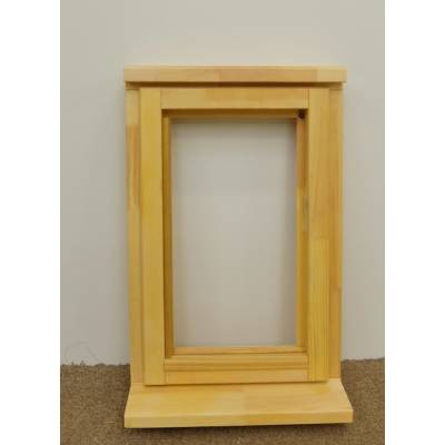 Wooden Timber Window Plain Casement Unglazed Softwood Jeldwen Jeld-wen 483x745mm - Handing (externally viewed):