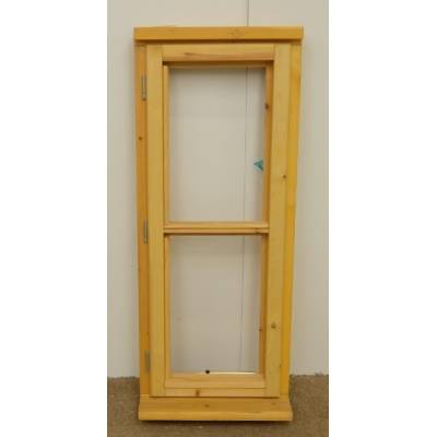 Wooden Timber Window Horizontal Centre Bar Casement Unglazed Jeldwen 483x1195mm - Handing (externally viewed):