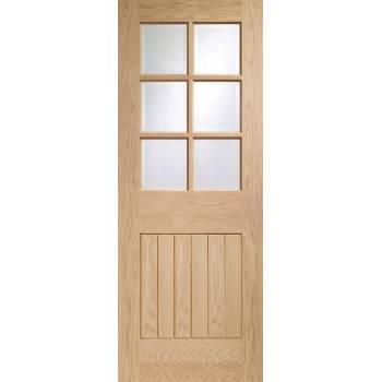 Unfinished Oak Suffolk Clear Glazed Fire Door