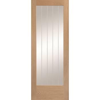 Unfinished Oak Suffolk P10 Glazed Internal Door