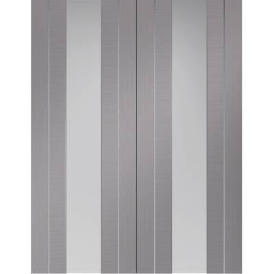 Internal Light Grey Pre-Finished Forli Pair Clear Glazed - D...