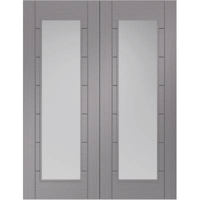 Internal Light Grey Pre-Finished Palermo Pair Clear Glazed -...