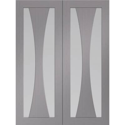 Internal Light Grey Pre-Finished Verona Pair Clear Glazed - ...