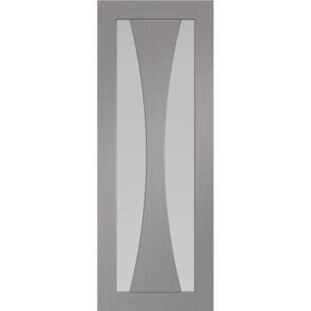 Pre Finished Clear Glazed Verona Light Grey Internal Door