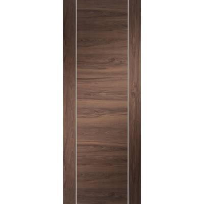 Pre-finished Forli Walnut Internal Door Wooden Timber - Door Size, HxW: