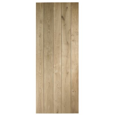 Unfinished Rustic Oak Ledged and Braced Door - Door Size HxW...