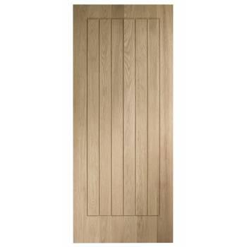 Unfinished Solid Oak Suffolk Internal Door