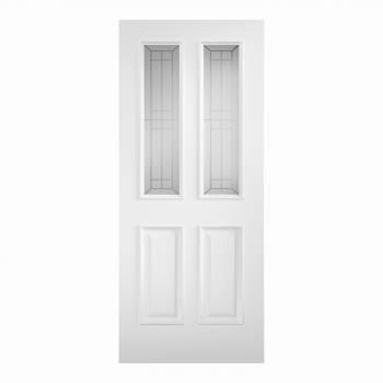Primed Tricoya Double Glazed Malton External Door
