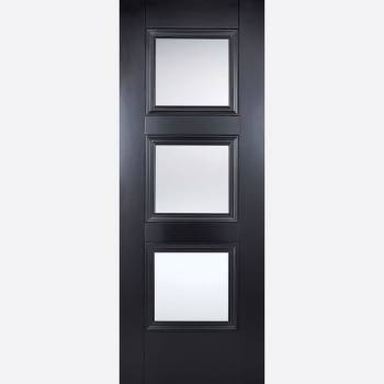 Black Primed Amsterdam Glazed 3L Internal Door
