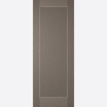 Pre-finished Chocolate Grey Inlay Fire Door