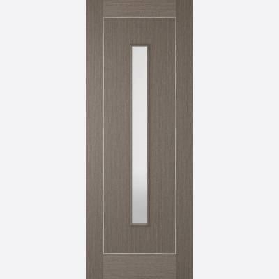 Pre-finished Chocolate Grey Glazed Inlay Internal Door Woode...