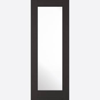 Pre-finished Fresno Charcoal Black Diez Glazed Internal Door Wooden Timber