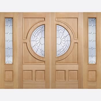 Oak Empress External Clear Glazed Door