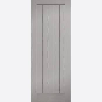 Grey Textured Vertical 5 Panel Internal Fire Door