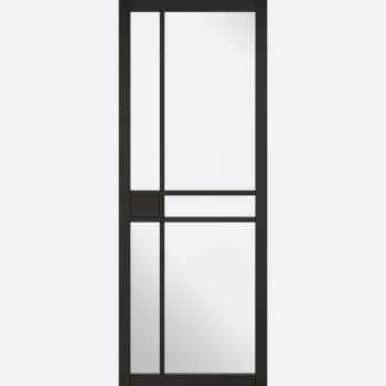 Black Primed Greenwich Glazed 5L Internal Door