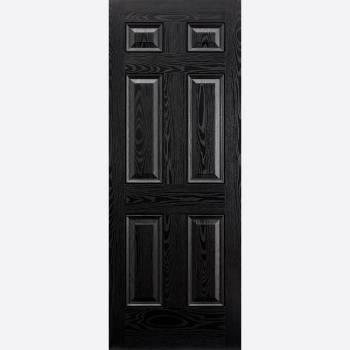 Pre Finished GRP Colonial 6 Panel Black External