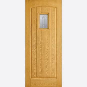 Pre Finished Oak GRP Cottage Glazed External Door