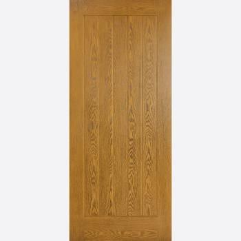 Pre Finished Mexicano Oak GRP External Door