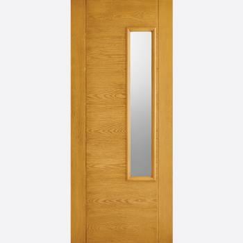 Pre Finished Newbury Oak Glazed GRP External Door