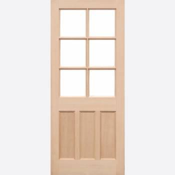 Unfinished Hemlock KXT External Door Wooden Timber