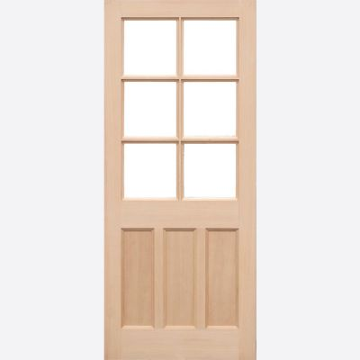 Unfinished Hemlock KXT External Door Wooden Timber - Door Si...