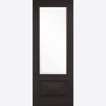 Black Primed Knightsbridge Glazed Internal Door