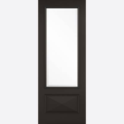 Black Primed Knightsbridge Glazed Internal Door  - Door Size...