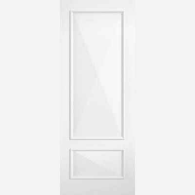 Primed Knightsbridge Glazed White Solid Internal Door  - Doo...
