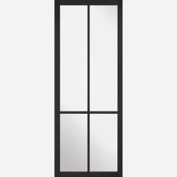 Black Primed Liberty Glazed 4L Internal Door
