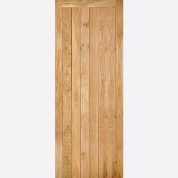 Un Finished Nostalgia Solid Oak Framed and Ledged Interior Door