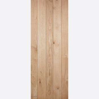 Unfinished Nostalgia Solid Oak Ledged Interior Door