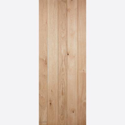 Unfinished Nostalgia Solid Oak Ledged Interior Door - Door S...