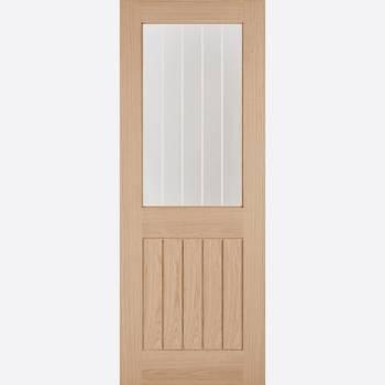 Unfinished Oak Belize Half Light Internal Door