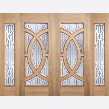 Oak Side Light Majestic External Door Wooden Timber