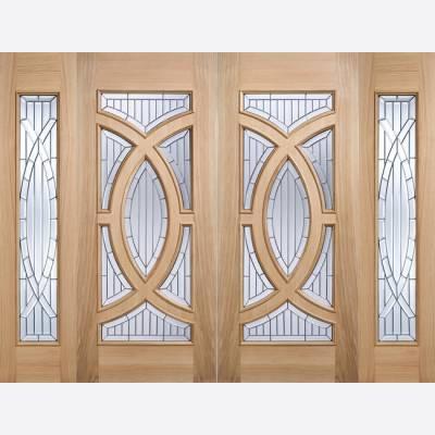 Oak Side Light Majestic External Door Wooden Timber - Door S...